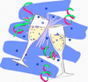 new year champagne glasses 7 clip art