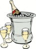 new year champagne on ice clip art