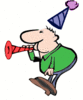 new year noise maker color clip art