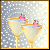 new year party drinks clip art