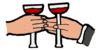 new year toast sm clip art