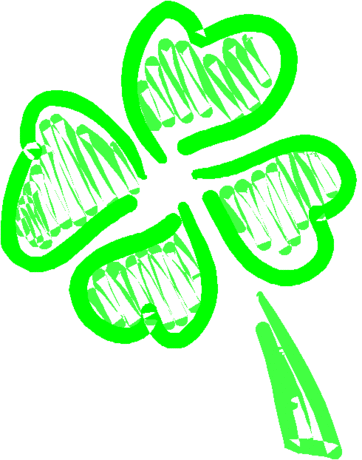 saint patricks day Four Leaf Clover 04