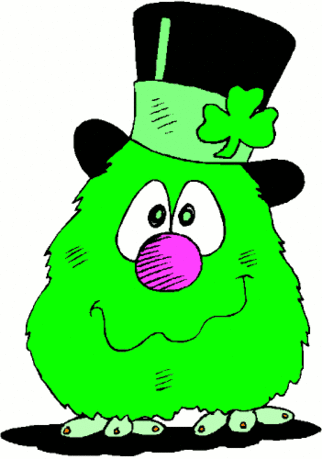 saint patricks day Fuzzy Creature