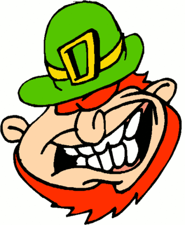 saint patricks day Leprechaun Laughing