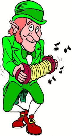 saint patricks day Leprechaun with Accordion 2