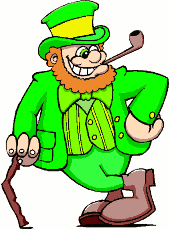 saint patricks day Leprechaun with Cane 2