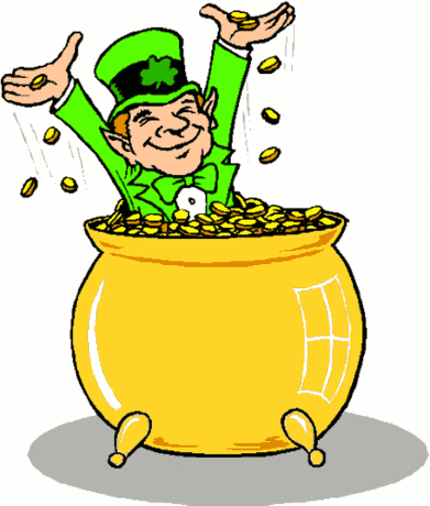 saint patricks day Leprechaun with Gold 1