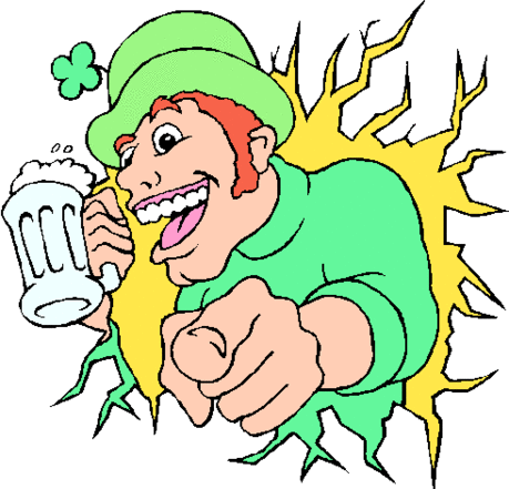 saint patricks day Man with Beer