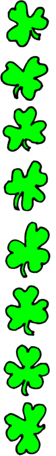 saint patricks day Shamrock Border 3