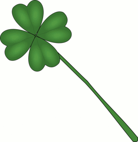 saint patricks day clover long stem