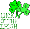 saint patricks day 1 Luck o the Irish clip art