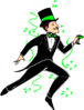 saint patricks day Celebrating Man clip art
