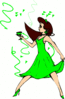 saint patricks day Celebrating Woman clip art
