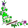 saint patricks day Corner 1 clip art