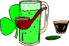 saint patricks day Green Beer Pipe clip art