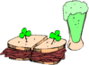 saint patricks day Green Beer Sandwich clip art