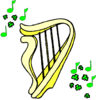 saint patricks day Harp clip art