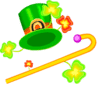 saint patricks day Hat Cane clip art