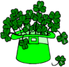 saint patricks day Hat Shamrocks clip art