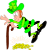 saint patricks day Leprechaun 01 clip art