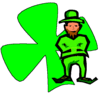saint patricks day Leprechaun 09 clip art