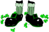 saint patricks day Leprechaun Feet clip art