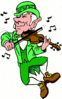 saint patricks day Leprechaun Fiddling clip art