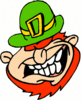 saint patricks day Leprechaun Laughing clip art