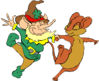 saint patricks day Leprechaun Mouse Dancing clip art
