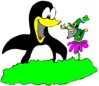 saint patricks day Leprechaun Penguin clip art