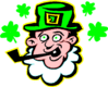 saint patricks day Leprechaun Smoking Pipe clip art