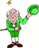 saint patricks day Leprechaun Tipping Hat clip art