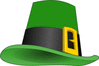 saint patricks day Leprechaun hat 2 clip art