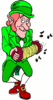 saint patricks day Leprechaun with Accordion 2 clip art