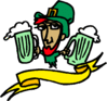 saint patricks day Leprechaun with Beer 1 clip art