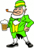 saint patricks day Leprechaun with Beer 2 clip art