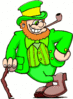 saint patricks day Leprechaun with Cane 2 clip art