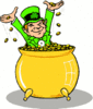 saint patricks day Leprechaun with Gold 1 clip art