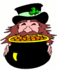 saint patricks day Leprechaun with Gold 2 clip art
