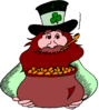 saint patricks day Leprechaun with Gold 3 clip art