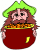 saint patricks day Leprechaun with Gold 4 clip art