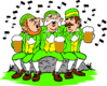 saint patricks day Leprechauns Singing clip art