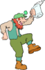 saint patricks day Man Dancing 1 clip art