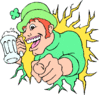 saint patricks day Man with Beer clip art