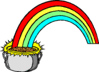 saint patricks day Pot of Gold Rainbow 1 clip art