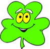 saint patricks day Shamrock Cartoon 1 clip art