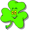 saint patricks day Shamrock Cartoon 2 clip art