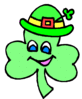 saint patricks day Shamrock Cartoon 3 clip art
