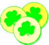 saint patricks day Shamrock Coins clip art