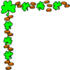 saint patricks day Shamrock Corner 1 clip art